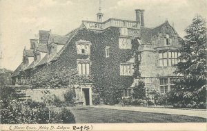Postcard Manor House Ashby St Ledgers typical house architecture