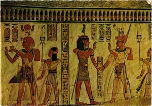 CPM EGYPTE Vallée des Reines: Relief peint dans le tombeau (344010)