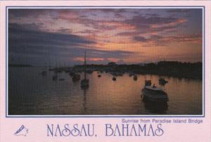 Bahamas Nassau Sunrise From Paradise Island Bridge