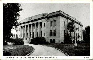 Vtg Postkarte 1940s - Washington Indiana IN - Daviess Grafschaft Court Haus Unp