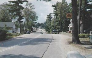 Scenic View of Road at Lake Edouward, Quebec, Canada, 40-60´s