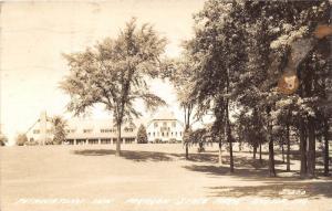 Angola Indiana~Pokagon State Park~Potawatomi Inn & Trees on Grounds~1943 RPPC