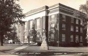 Real Photo Postcard Laclede County Courthouse in Lebanon, Missouri~126248