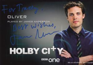 James Anderson as Oliver BBC Holby City Hand Signed Cast Card Photo