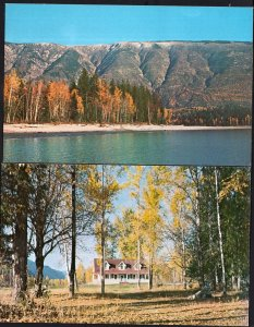 (2) BC Seymour Arm Hotel/Long Ridge SHUSWAP LAKE - Chrome 1950s-1970s