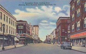 Georgia Savannah Broughton Street Looking East CURTICH