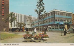 Rotherham Bus Station Car Park Precinct 1970s Postcard