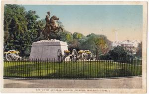 Statue of General Andrew Jackson, Washington, D.C., Postcard