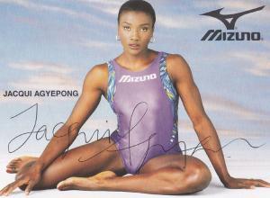 Jacqui Agyepong Hurdle Champion Olympic Games Athlete Large Hand Signed Photo