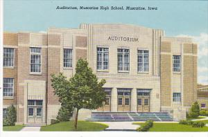 Auditorium Muscatine High School Muscatine Iowa Curteich