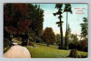 Seattle WA-Washington, Scenic Kinnear Park, Walkway, Visitors, Vintage Postcard