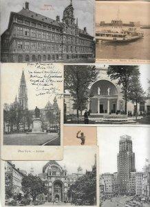 Belgium - Anvers Antwerp Postcard Lot of 22 RPPC and Printed 01.04