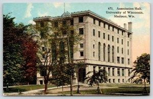 Madison WI~University of Wisconsin Campus~Association Hall~c1910 Postcard