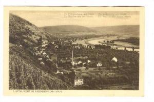 Aerial View, Luftkurort Klingenberg am Main, Bavaria, Germany, 10-20s