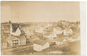 Real Photo Postcard Overview of Glenwood, Wisconsin~105412