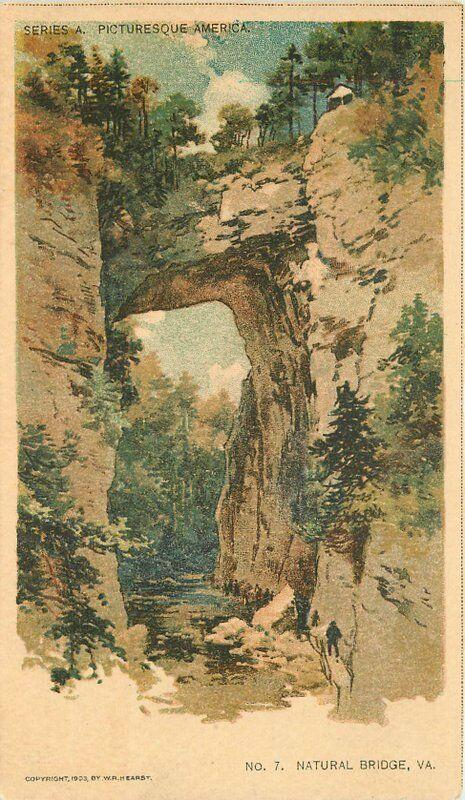 Art Natural Bridge Virginia Hearst 1903 Postcard undivided 277
