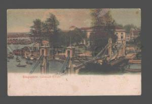 081324 Singapore Cavenagh Bridge Vintage colorful PC