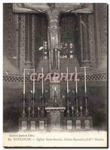 Toulouse - Saint Sernin Church Byzantine Christ - Old Postcard