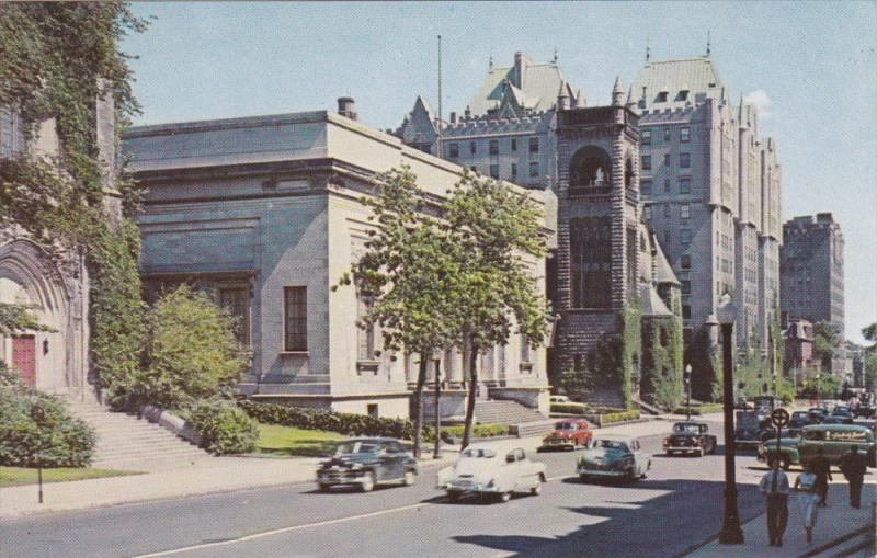 Art Gallery, Sherbrooke Street Looking East, MONTREAL, Quebec, Canada, 40-60's