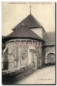 Montoire sur le Loir Postcard Old Chapel St Gille Apse and entry