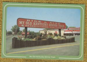 My Old Kentucky Dinner Train Post Card Bardstown Railroad