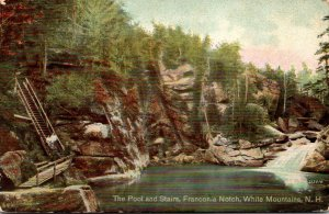 New Hampshire White Mountains Franconia Notch The Pool and Stairs