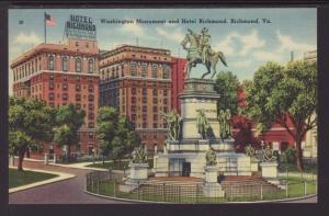 Washington Monument and Hotel Richmond,Richman,VA