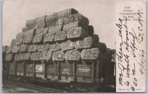 Memphis, Tenn., Cotton Transportation by Rail, Illinois Central Ry. Coovert-1906