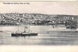 Portugal Panorama de Lisboa Visto do Tejo Bateaux Boats