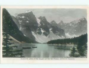 old rppc NICE VIEW Moraine Lake - Banff National Park Alberta AB W0875