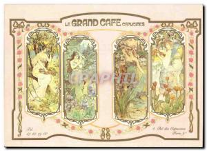 Modern Postcard The grand cafe Capucines Restaurant Plaisir Boulevard des Cap...