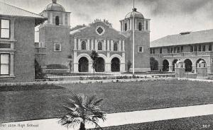 San Jose California~Twin Towers~High School~Clay Tile Roofs c1910