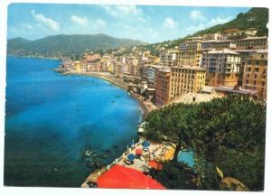 Italy, Golfo Paradiso, Camogli, Panorama, 1973 used Postcard