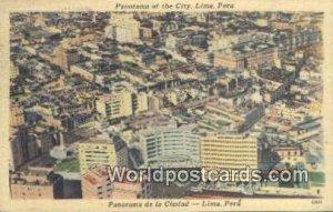 City, La Ciudad Lima, Peru Postal Used Unknown, Missing Stamp