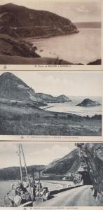 Route de Bougie a Djidjelli A Bougie 3x Antique Algeria Algerian Postcard s