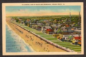 VA Aerial Beach & Promenade VIRGINIA BEACH Linen PC
