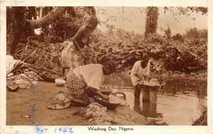 Lot119 washing day nigeria types folklore real photo africa