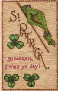 St Patrick's Day Greetings - Begorrah, I Wish You Joy - pm 1909 - DB - Tuck