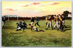 Sports~Football~Both Teams Scramble After Ball~Goal Post~IPCC #185-2~1908 PC
