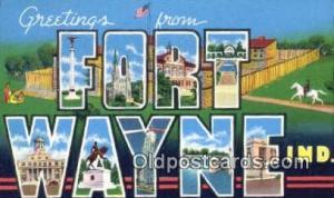 Fort Wayne, Indiana, USA Large Letter Town Unused