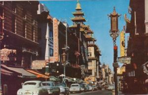 California San Francisco Chinatown Main Street Grant Avenue
