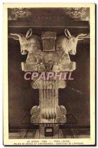 Old Postcard From Paris Louvre Palais Darius And D & # 39Artaxerxes Capital o...