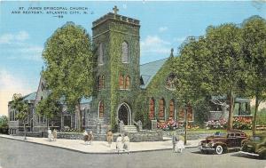 Atlantic City NJ~St James Episcopal Church & Rectory~Couple Cross Street~1940s