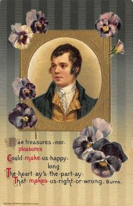 John Winsch A Birthday Greeting Poem by Burns Embossed Postcard