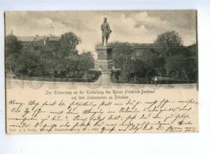 155702 GERMANY POTSDAM Kaiser Friedrich Denkmal Vintage RPPC