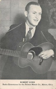 LPS34 Akron Ohio Robert Lunn Radio Entertainer Palmer Match Company Postcard