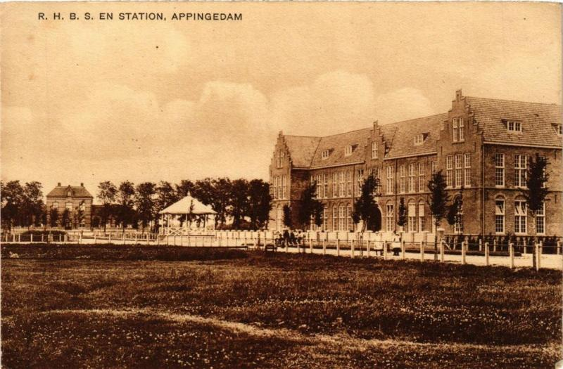 CPA APPINGEDAM R.H.B.S. en Station NETHERLANDS (706144)