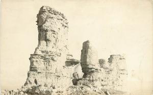 c1922 RPPC Postcard; Rock Formations Scotts Bluff NE Posted