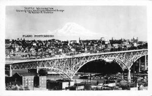 SEATTLE, WASHINGTON GEORGE WASHINGTON BRIDGE RPPC REAL PHOTO POSTCARD