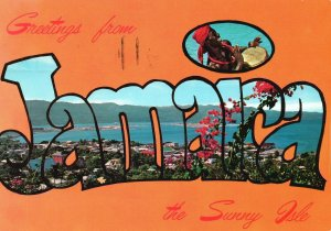 Vintage Postcard 1977 Greetings From Jamaica The Sunny Isle Land of Sun & Sea